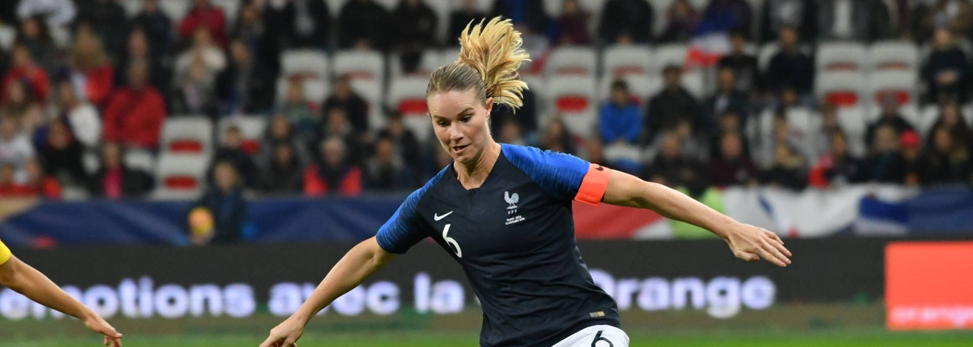 Amandine Henry capitaine de l'équipe de France Crédit photo archives FFF