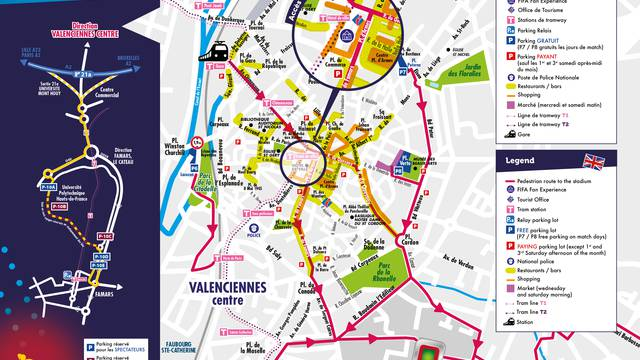 Stationner à Valenciennes pendant la Coupe du Monde de Foot Féminin