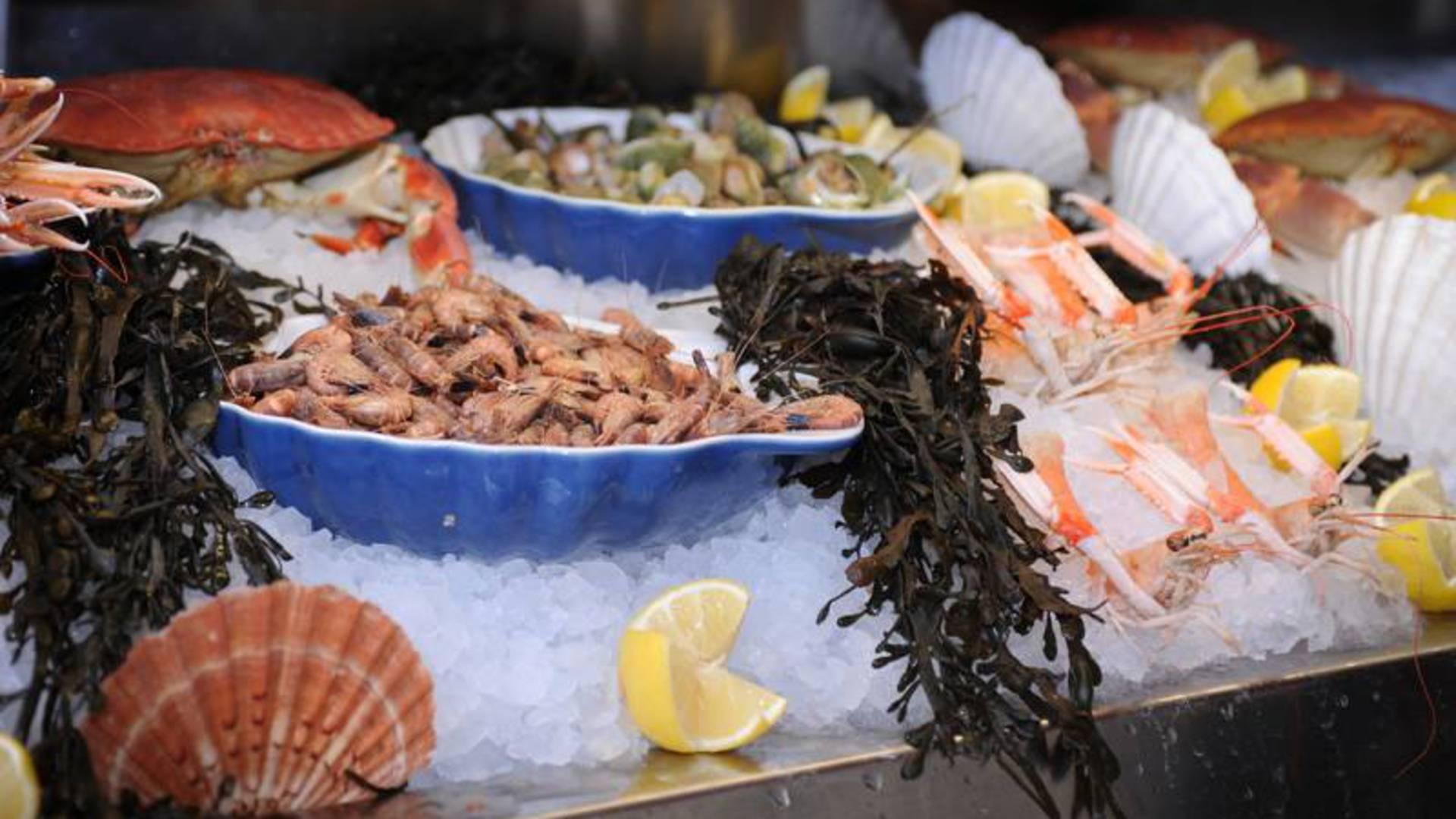 Valenciennes, restaurant l'Escargot, fruits de mer