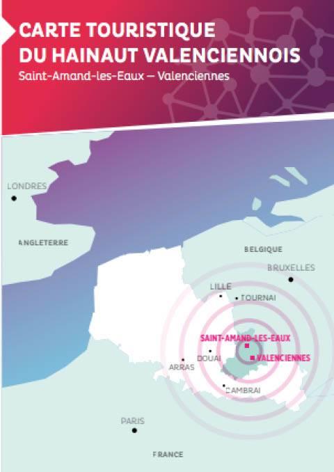 Carte touristique du Hainaut-Valenciennois édition 2017