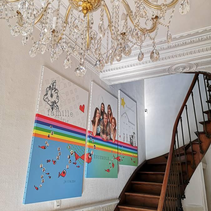 Le haut du pavé escalier