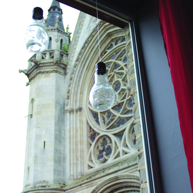 L'Ardoise à Onnaing, vue sur l'église